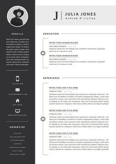Cool Resume skills dark ideas Professional Resume Template & Cover Letter Icon b. -Professional Resume Template & Cover Letter Icon b. Template Cv, Resume Design Template, Cover Letter Template, Letter Templates, Resume Templates, Graphic Design Resume, Modern Cv Template, Design Logos, Cover Letters