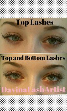 Top and bottom eyelash extensions #eyelashextensions