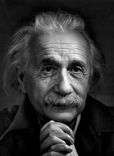 Albert Einstein | by Yousuf Karsh Yup, I meant to put him on the beauty board. It wasn't a slip of the pin. Look at that kind thoughtful face. That's beauty. Good bone structure too!