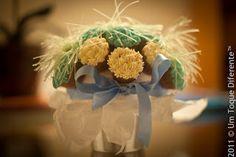 Bouquet de Aniversário: cupcake