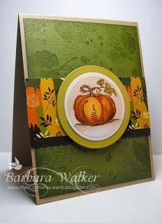The Buzz: Autumn card featuring the Grateful Heart Stamp TV kit from #GinaK Designs. Created for #Online Card Class Insider ~ Homework Day 1 Visit my blog to see the inside.