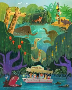 This Jungle Cruise piece will be released at Downtown Disneyland's Wonderground gallery (I will be doing signing August 13, 2016 from 11 a.m. – 1...