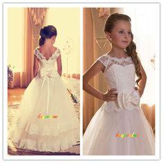 82deb691ef0fd 2-14 robes de fille robe enfant robe filles fleurs mariage girl wedding  dress-G