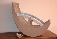Cardboard chair project by Oksana Bedo, via Behance