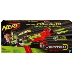 Enjoy exceptional accelerator technology and ultimate-distance blasting with the Nerf Vortex Nitron. Xtra Long-Range technology makes Nitron one of the premier blasters for your battlefield experience. Nitron is fully compatible with Vortex accessories, allowing you to take advantage of Nitron's capabilities for extra storage and quick reloading.  ONLY $32.41 on Amazon.com!
