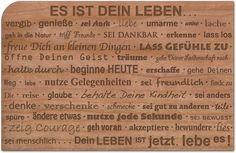 Holzpost, Grußkarte aus echtem Kirschbaumholz 14x9cm inkl. DIN C6 Umschlag! Es ist Dein Leben   G188