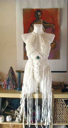 Macrame festival dress , perfect for your summer festival dress or your Burning man experience. Made of lycra, very soft Music Festival Outfits, Festival Dress, Boho Festival, Festival Clothing, Diy Festival Clothes, Music Festivals, Concert Outfits, Coachella Festival, Festival Style
