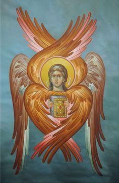 Kuvahaun tulos haulle Byzantine Icon of Seraphim Byzantine Icons, Byzantine Art, Religious Icons, Religious Art, Order Of Angels, Religious Paintings, Jesus Art, Catholic Art, Art Icon