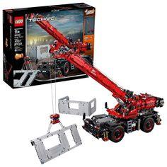 LEGO Technic Rough Terrain Crane (42082) Lego Crane, Toy Crane, Lego Technic Sets, Lego Mindstorms, Lego Disney, Lego City, Lego Ninjago, Legos, Technique Lego