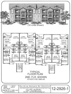 12 plex apartment house plan ideas pinterest for Apartment plans 6 units