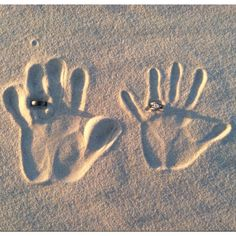 Henson Beach trip 2012 by MeLeah H #Beach #Handprints