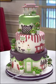 shopping paradise cake.  Really creative and cute. This is art