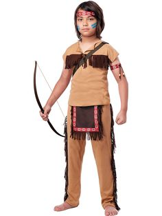 Boy's Native American Brave Costume! See more #costume ideas for Halloween and more at CostumeSuperCenter.com
