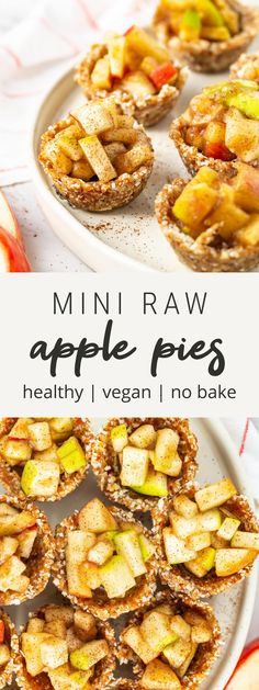 Healthy Thanksgiving Recipes, Vegan Thanksgiving, Good Healthy Recipes, Fall Recipes, Whole Food Recipes, Vegan Recipes, Healthy Meals, Mini Apple Pies, Raw Vegan