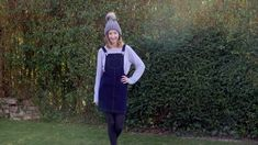 I've finally made my Cleo Pinafore! I wanted a navy corduroy version for winter. Dungarees, Corduroy, Vest, Blog, Jackets, Diy, Fashion, Down Jackets, Moda