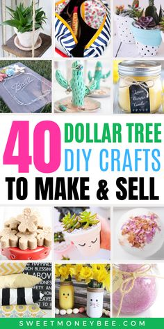 If you're looking for crafts to make and sell for a profit, look no further. These profitable crafts will sure inspire you to make extra money from home! Diy Projects To Make And Sell, Easy Crafts To Sell, Money Making Crafts, Diy Crafts Hacks, Diy Home Crafts, Fun Crafts, Creative Money Gifts, Dollar Tree Crafts, Craft Sale