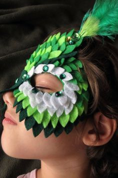 SALE HALLOWEEN OWL mask Costume Children felt owl mask Any Color Scheme You Want dressed in gems and feathers for pretend play or costume on Etsy, $15.00