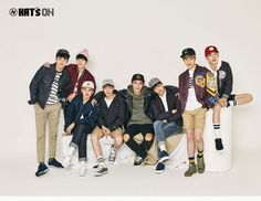 EXO get together to model 'Hat's On's fall collection | allkpop.com