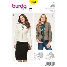 Burda Style Pattern Misses' Peplum Blazer Burda Sewing Patterns, Coat Patterns, Clothing Patterns, Sewing Ideas, Sewing Projects, Peplum Blazer, Jacket Pattern, Diy Clothing, Pattern Fashion