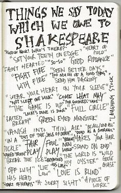 Shakspeare Phrases you should not Forget ~ Educational Technology and Mobile Learning - Shakespeare? You probably are familiar with most of these phrases listed here but I am sure your students are not .Why not share it with your students and let them explore the linguistic spelling of Shakespeare words? Enjoy!
