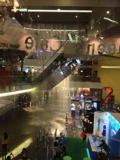 Flooding in shopping mall