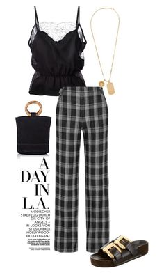 """Winter in LA"" by deborarosa ❤ liked on Polyvore featuring Fleur du Mal, Proenza Schouler, Versace and Simon Miller"