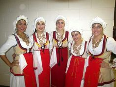 Group shot of dancers dressed in the traditional folk costume of Arachova, Central Greece. Folk Costume, Costumes, Handkerchiefs, Greeks, Dancers, Over The Years, Culture, Popular, Traditional