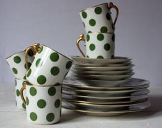 AMAZING antique LIMOGES 1917 SET of 6 china cups with plates and underplates. I WANT THIS SO BAD!!
