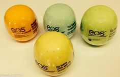 EOS Lip Balm 4 Flavours Sweet Mint, Tangerine, Lemon Drop & Honeysuckle New
