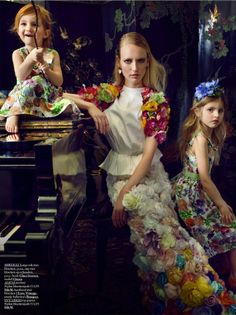 """The Terrier and Lobster: """"A Royal Family"""": Mireille L'Amie by Anne Timmer for Grazia Netherlands April 23, 2013"""