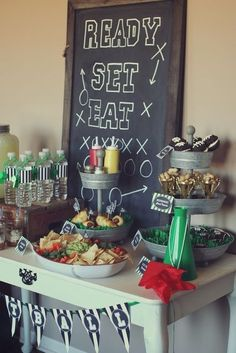 Football themed birthday ideas for our combined bday party at the end of the month! Love having our birthdays in the same week. B