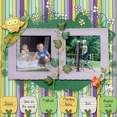 Our grandkids enjoying life!  August 2016 Kit used:  Discovering Spring by PattyB Scraps Kit link:  http://www.godigitalscrapbooking.com/shop/index.php?main_page=product_dnld_info&cPath=29_335&products_id=31514