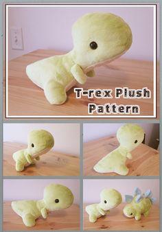 T-rex plush Pattern by sambragg