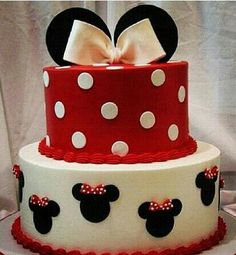Disney Party Cake! Minnie Mouse. Take off the bows, bam boy cake