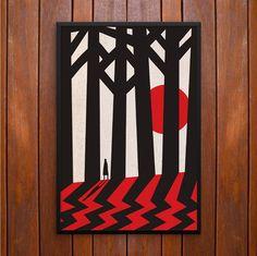 Black Lodge, Twin Peaks Trees Poster or Framed Print