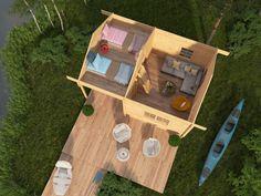 House Floor Plans, Tiny House, Beach House, Loft, Cottage, Patio, Flooring, Anna, Facades