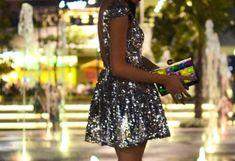 Silver sparkle dress #silverdress