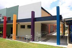 St Francis Xavier Primary School – Birchall & Partners Architects, Brisbane Australia.  Architects Ipswich | Architects Brisbane | Architects Gold Coast Francis Xavier, St Francis, Brisbane Architects, Architectural Columns, Brisbane Australia, Primary School, Gold Coast, Saints, Architecture