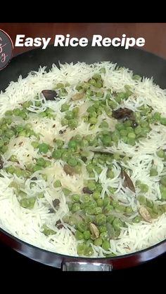 Basmati Rice Recipes, Healthy Rice Recipes, Vegetable Recipes, Cooking Videos, Food Videos, Cooking Recipes, Indian Food Recipes, Asian Recipes, Ethnic Recipes