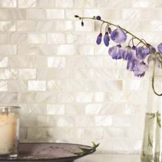 White - Mother of Pearl Mosaics - Wall