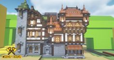 Minecraft City Buildings, Minecraft Castle, Minecraft Medieval, Minecraft Architecture, Minecraft Houses, Minecraft Decorations, Minecraft Crafts, Minecraft Designs, Minecraft Construction