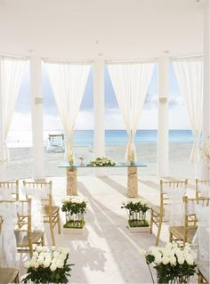 Le Blanc Wedding set up Cancun Mexico