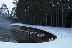 Garden Hotpot Restaurant / MUDA-Architects Completed in 2019 in Chengdu China. Images by Arch-Exist. Chengdu's leisurely and warm temperament makes it a tourism magnet in Southwest China. And hotpot as part of the local cultural characteristics has. Chengdu, John Pawson, Architecture Restaurant, Restaurant Design, Landscape Architecture, Interior Architecture, Sustainable Architecture, Hotpot Restaurant, Architectural Scale