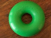 GoughNuts toy... supposedly almost indestructible... gonna have to try this one sometime. Tahoe can chew through a black kong when he wants to!