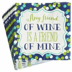 Friend of Wine Cocktail Napkins