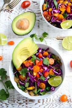 With just a few minutes, some simple pantry ingredients, and a handful of fresh veggies you can whip up this flavor-packed 20-Minute Black Bean Bowls with Confetti Slaw. Naturally gluten-free, dairy-free, and made with real food, clean-eating ingredients.