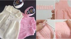 Şiş İşi Örgü Kız Bebek Elbisesi Yapılışı
