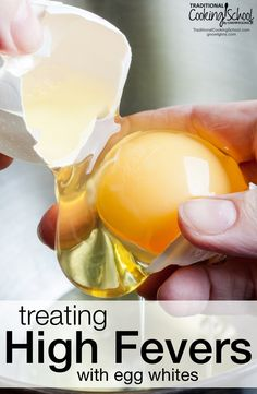 Treating High Fevers With Egg Whites Parents are told to reduce their kids' fevers with aspirin or other medicines. For a mild fever, this can do more harm than good. Here's a natural fever remedy you may not have heard of. Home Remedies For Fever, Natural Remedies For Fever, Natural Cures, Natural Health, High Fever Remedies, Toddler Fever, Kids Fever, Baby Fever, Fever Reducer For Toddlers