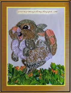 A Journey into Quilling & Paper Crafting: Graphic Quilled Cartoon Picture - Walt DIsney's Thumper from Bambi