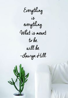 Lauryn Hill Everything is Everything Quote Wall Decal Sticker Room Art Vinyl RnB Rap Hip Hop Lyrics Music Inspirational - brown